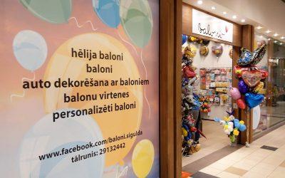 Veikals BALONI jaunās telpās